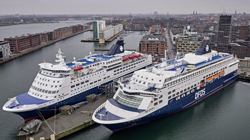 Ferries could be powered by green hydrogen by the end of the decade. [Photo: DFDS]
